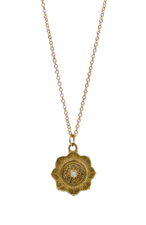 LULU Small Chakra Yellow Bronze Necklace