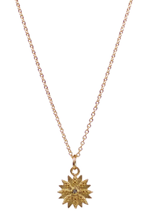 LULU Narcissa Yellow Bronze Necklace