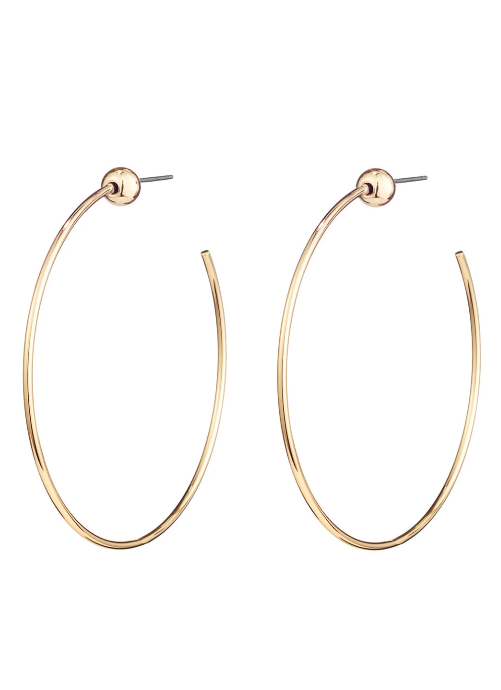 Small Icon Hoops in Gold