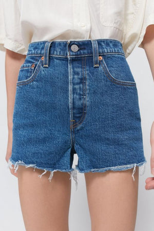 Levi's Ribcage Denim Short in Charleston Erosion