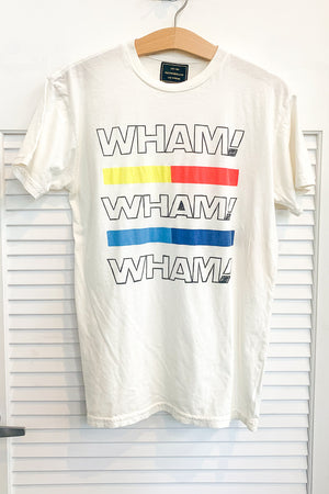 'WHAM' Tee in White