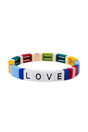 TAI Alloy Bead LOVE Bracelet in Multicolor sold at Sway and Cake