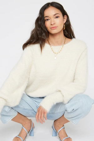 Tate Sweater in Creme