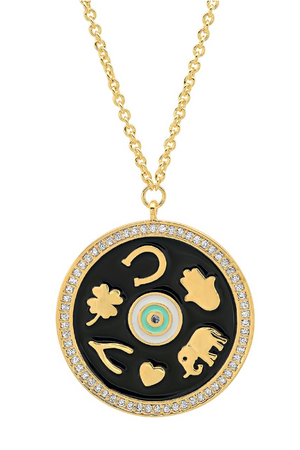 Enamel Luck Pendant Necklace
