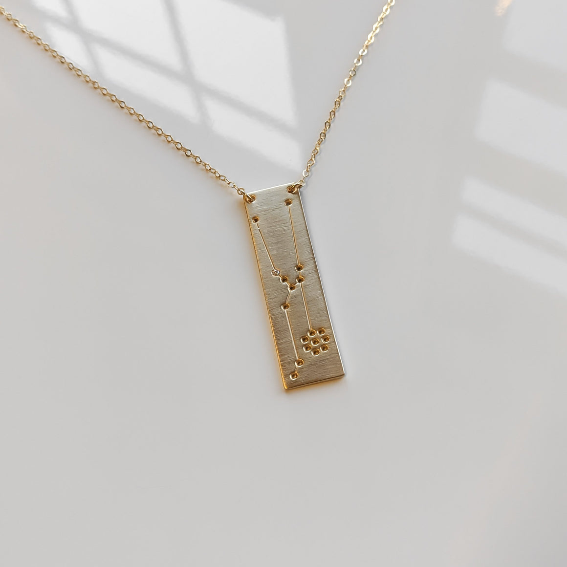 Signature Constellation Necklace in Gold with Diamond