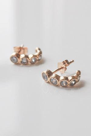 Thatch Astrid Huggie Hoop Earring in Gold sold at Sway and Cake