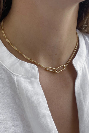 Thatch Lumos Curb Chain Necklace in Gold sold at Sway and Cake