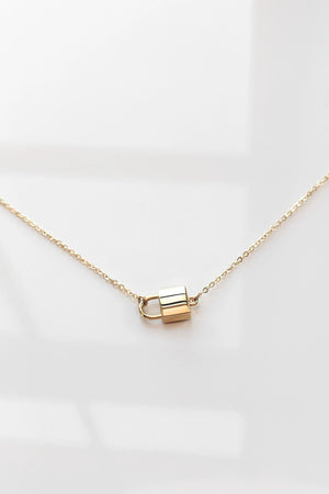 Thatch Jewelry Bella Lock Necklace in Gold sold at Sway and Cake