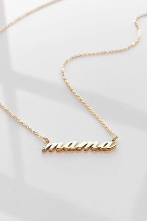Thatch Jewelry Mama Script Necklace in Gold sold at Sway and Cake