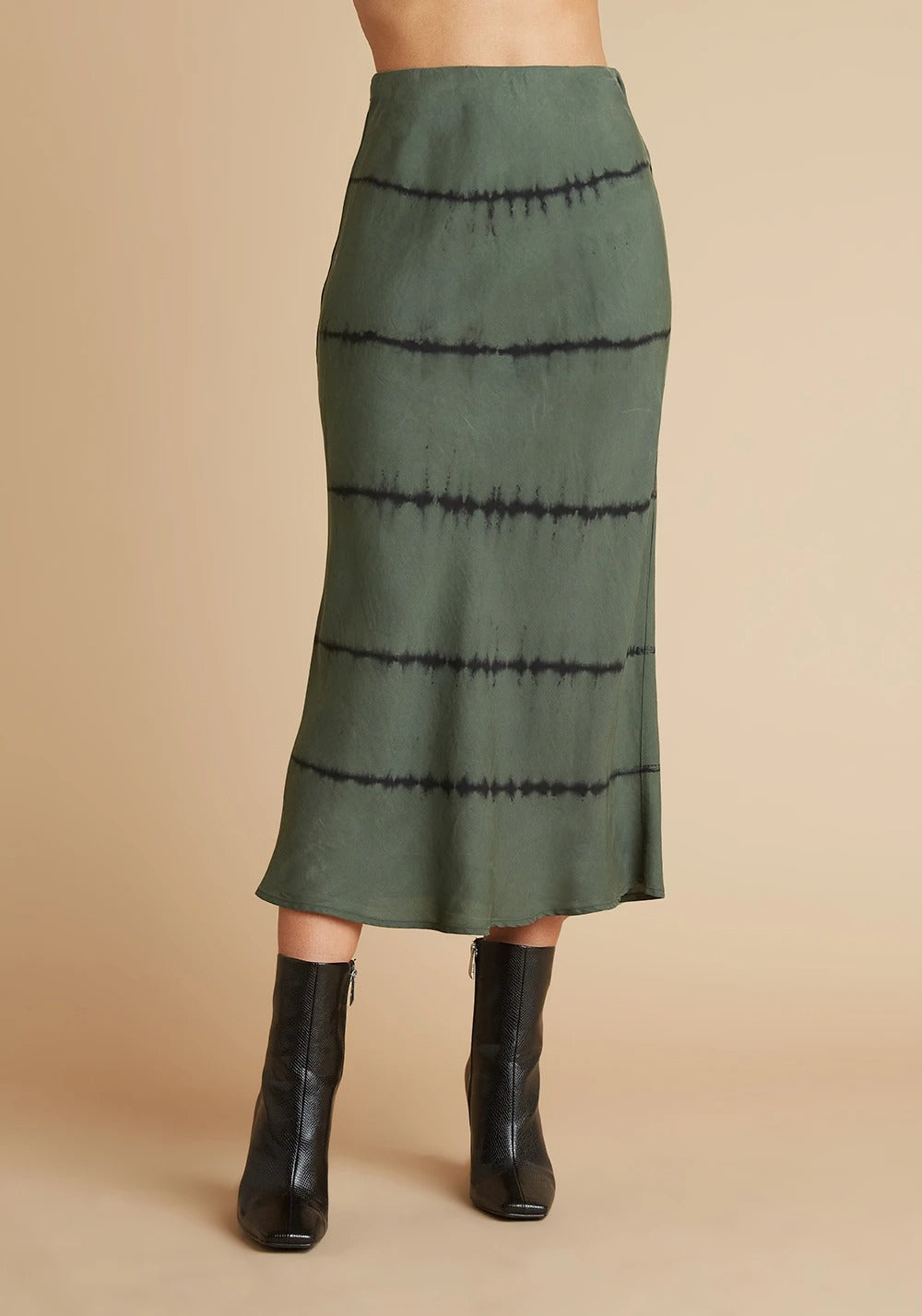 Bias Midi Skirt in Cactus