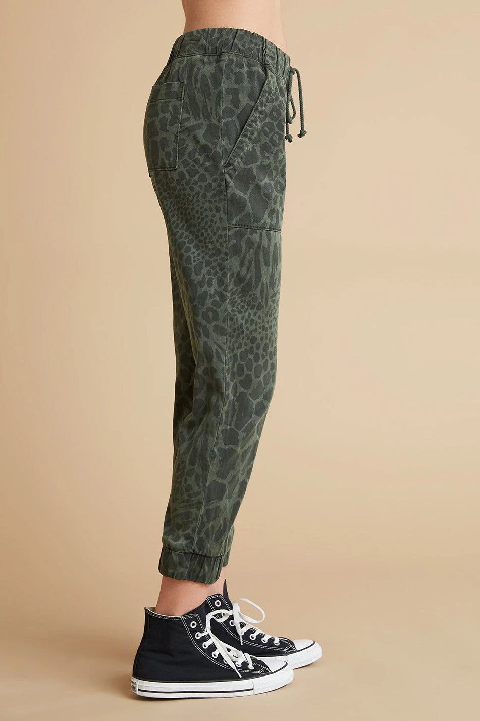 Print Pocket Jogger Pant in Ivy