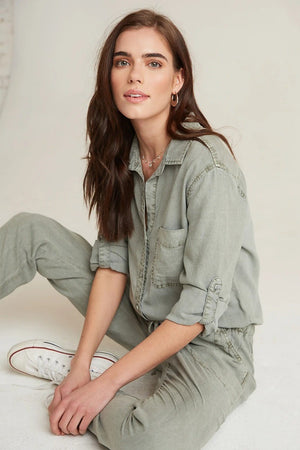 Utility Jumpsuit in Soft Army