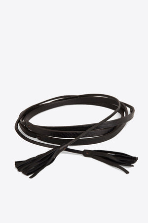 De Palma Zingara Wrap Belt In Black