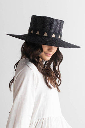 Gigi Pip Corey Hat in Black