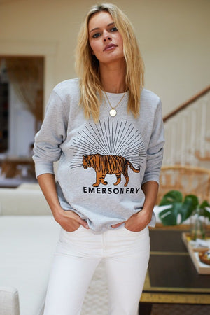 Tiger Sweatshirt in Grey