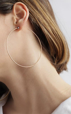 Jennybird Large Icon Hoop Earrings in Gold side view