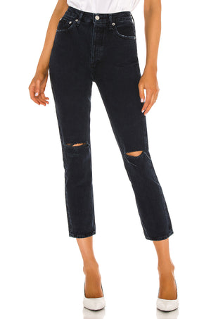 Riley Hi-Rise Straight Crop Jean in Unseen