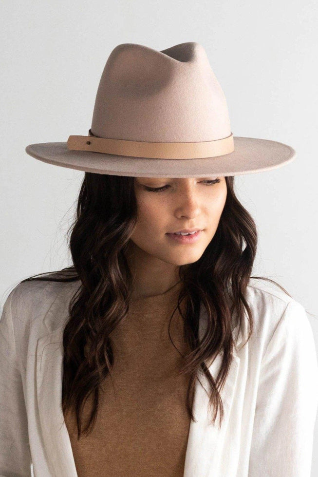 Shiloh Fedora Hat in Blush