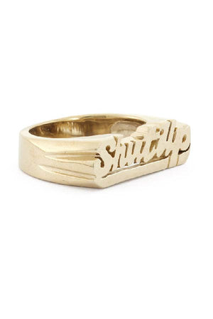 'Shut Up' Zodiac Ring