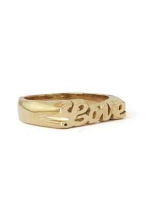 Snash Love Cursive Ring