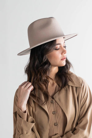 Wes Fedora Hat in Ivory