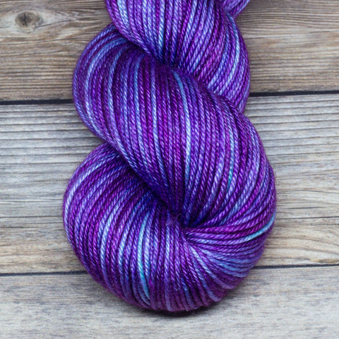 Avalon in Ambrosius - Round Table Yarns hand-dyed yarn tonal semi-solid self-striping