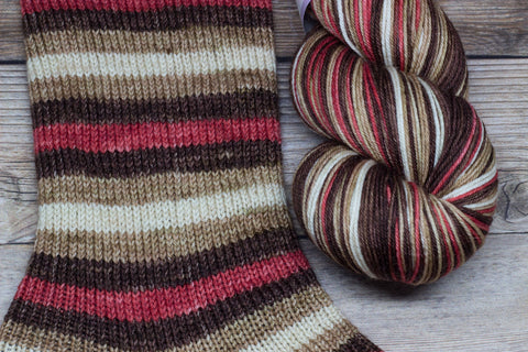 Merlin in Archimedes (self-striping) - Round Table Yarns hand-dyed yarn tonal semi-solid self-striping