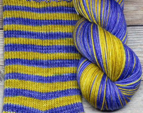 Merlin in Cadbury Castle (self-striping) - Round Table Yarns hand-dyed yarn tonal semi-solid self-striping
