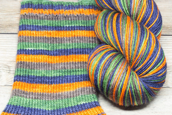 Merlin in Deeds of Arms (self-striping) - Round Table Yarns hand-dyed yarn tonal semi-solid self-striping