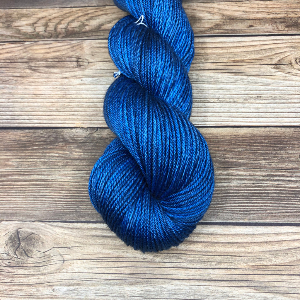Avalon in Destroyer of Good Knights - Round Table Yarns hand-dyed yarn tonal semi-solid self-striping