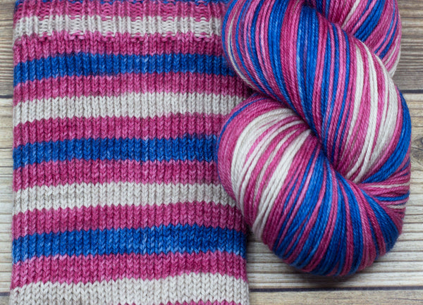 Merlin in Elaine of Corbenic (self-striping) - Round Table Yarns hand-dyed yarn tonal semi-solid self-striping