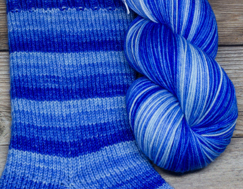 Merlin in Gramercy (self-striping) - Round Table Yarns hand-dyed yarn tonal semi-solid self-striping