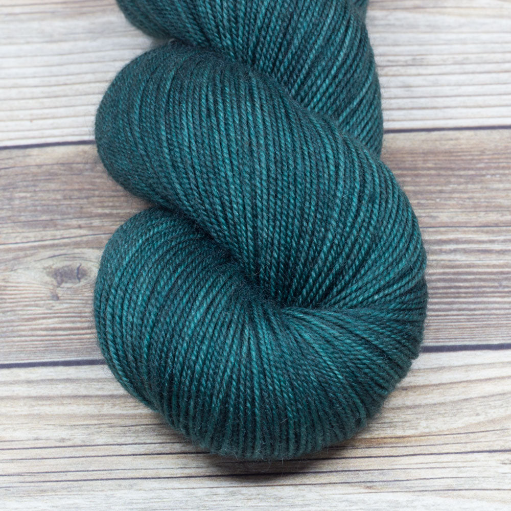 Legend in Green Knight - Round Table Yarns hand-dyed yarn tonal semi-solid self-striping