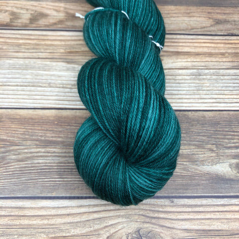 Camelot in Green Knight - Round Table Yarns hand-dyed yarn tonal semi-solid self-striping