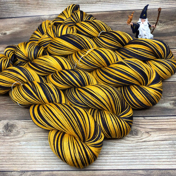 Merlin in Lai of the Horn (self-striping) - Round Table Yarns hand-dyed yarn tonal semi-solid self-striping
