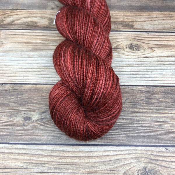 Camelot in Lanval - Round Table Yarns hand-dyed yarn tonal semi-solid self-striping