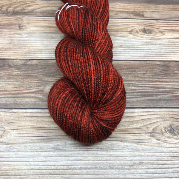Cornwall in Lanval - Round Table Yarns hand-dyed yarn tonal semi-solid self-striping