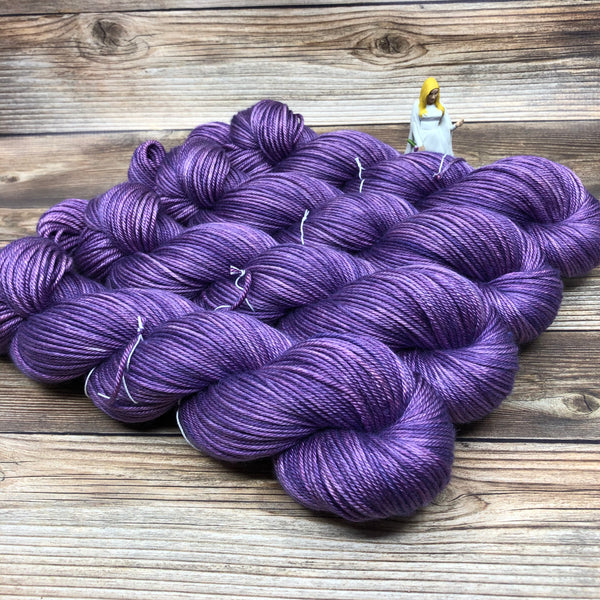 Avalon in Nimue - Round Table Yarns hand-dyed yarn tonal semi-solid self-striping