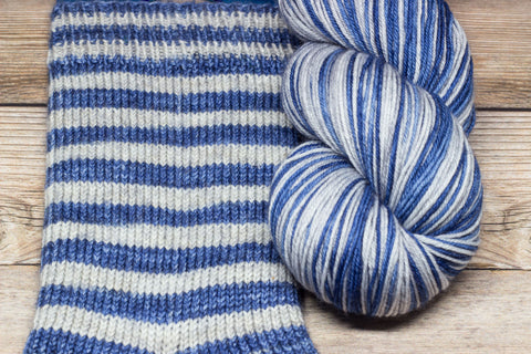 Merlin in Once and Future (self-striping) - Round Table Yarns hand-dyed yarn tonal semi-solid self-striping