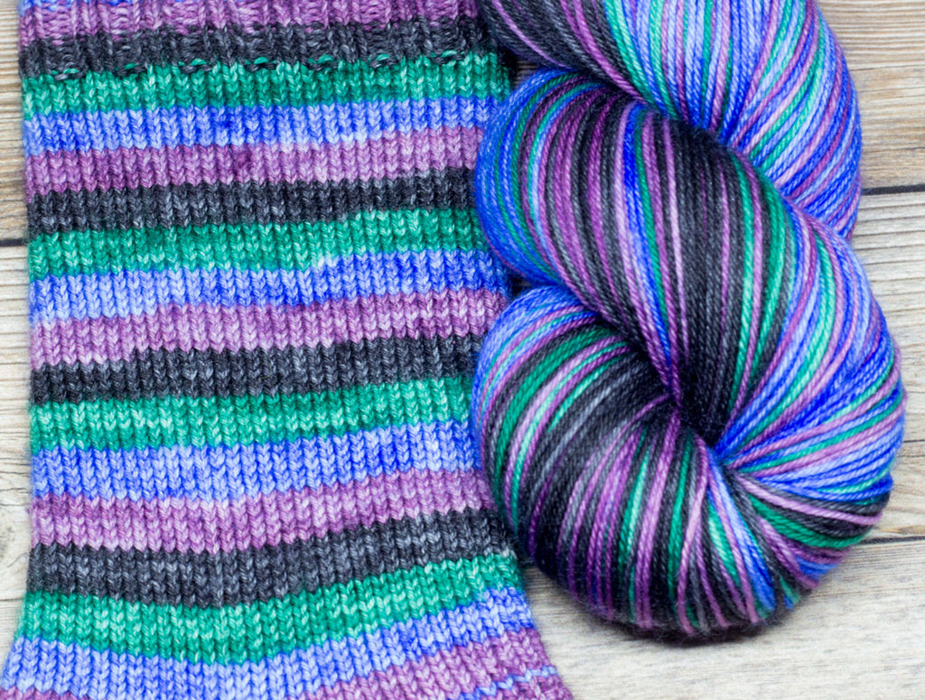 Merlin in Pavilion (self-striping) - Round Table Yarns hand-dyed yarn tonal semi-solid self-striping