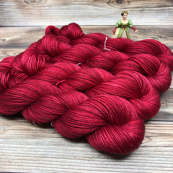 Avalon in Poisoned Apple - Round Table Yarns hand-dyed yarn tonal semi-solid self-striping