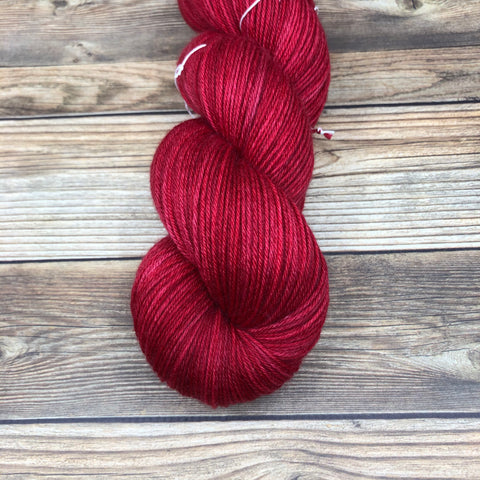 Camelot in Poisoned Apple - Round Table Yarns hand-dyed yarn tonal semi-solid self-striping