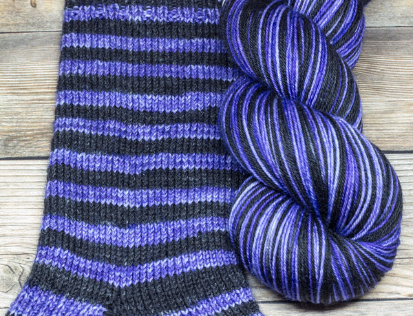 Merlin in Tarabil (self-striping) - Round Table Yarns hand-dyed yarn tonal semi-solid self-striping