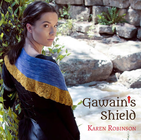 Gawain's Shield: a shawl collection - Round Table Yarns hand-dyed yarn tonal semi-solid self-striping