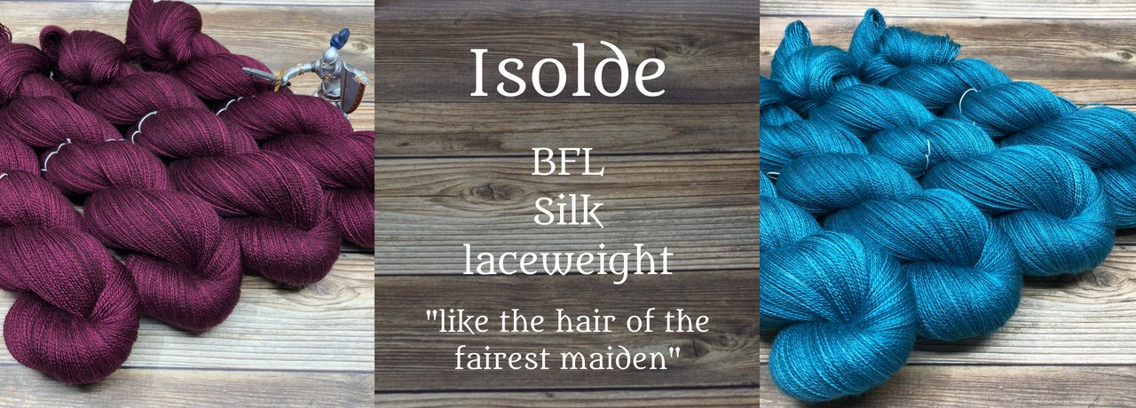 Isolde - BFL silk laceweight yarn