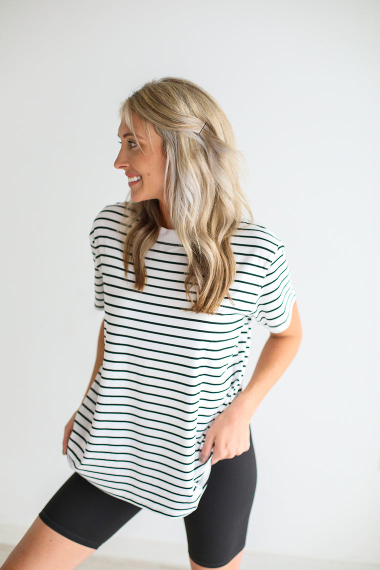 Not Your Basic Striped Tee