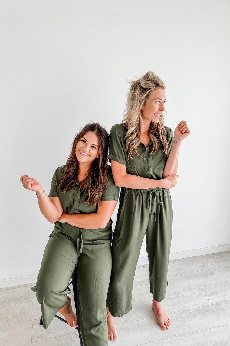 Amber Army Green Jumpsuit