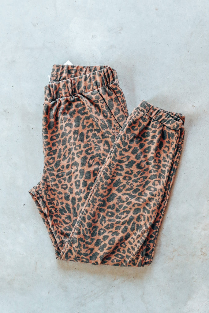 Have To Run Leopard Joggers