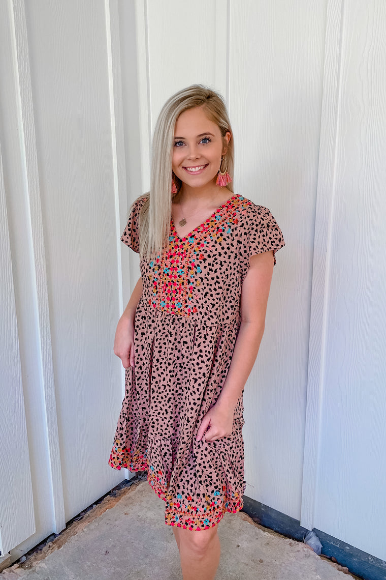 Cheetah Sunset Shift Dress