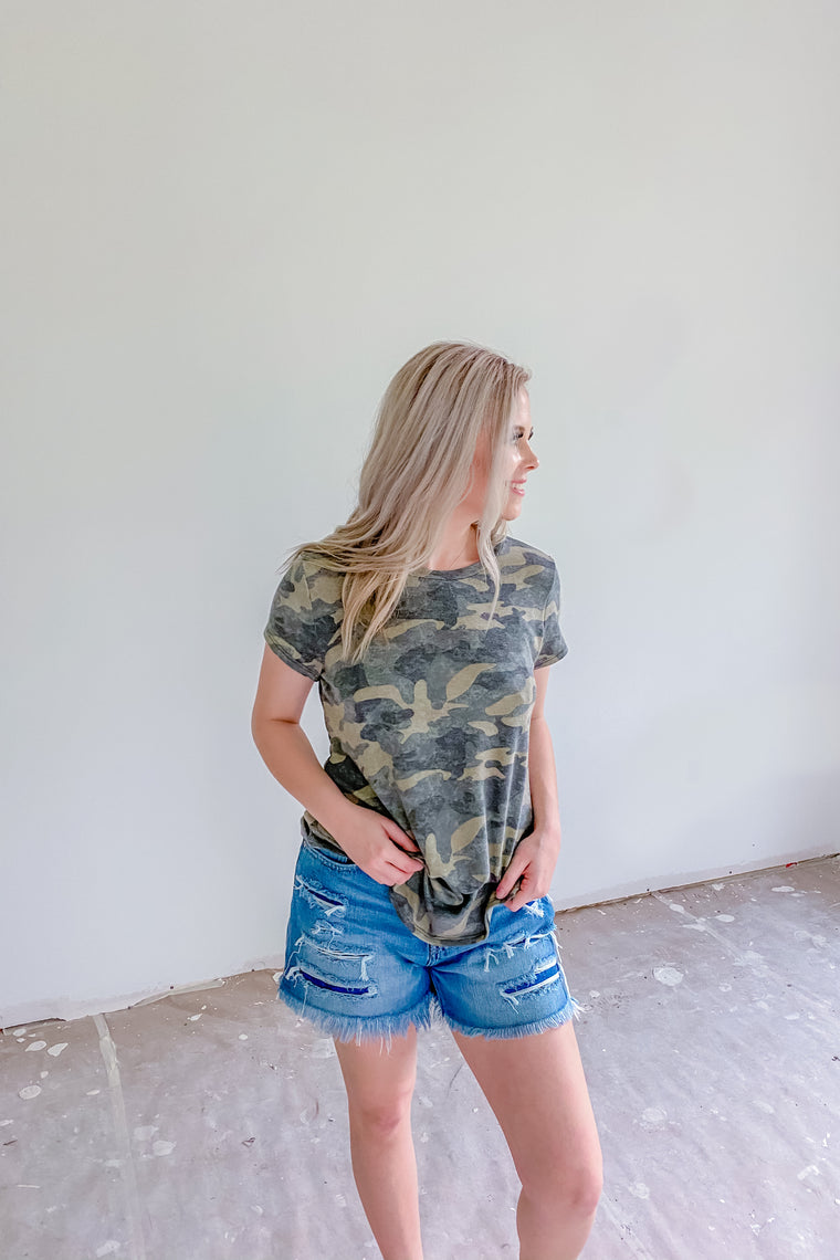 Into The Unknown Camo Top